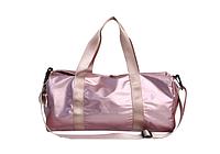 Большая спортивная молодежная сумка с яркими ручками, розовая, фото 1
