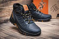 Зимние мужские кожаные ботинки в стиле Columbia синяя кожа
