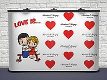 Именной! 260 Качественный Свадебный баннер для фотосессии 300х200 см, Плотная бумага 130 гр/м
