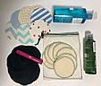 Набор 14 шт многоразовые спонжи для демакияжа и умывания на каждый день, набор для снятия макияжа, экоспонж, фото 2