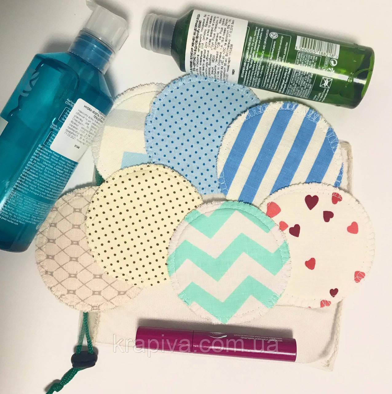 Набор 14 шт многоразовые спонжи для демакияжа и умывания на каждый день, набор для снятия макияжа, экоспонж