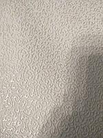 Кожзаменитель на войлочной основе мебельный для мягкой мебели ширина 140 см сублимация узор белый, фото 1