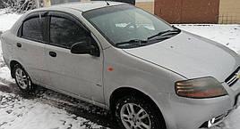 Ветровики, дефлекторы окон Chevrolet Aveo Sedan 2003-2006 'Cobra tuning'