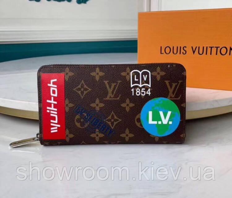 Мужской кошелек в стиле Louis Vuitton (67824) brown