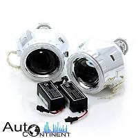 """Автомобильные линзы InfoLight G5 2.5"""" с ангельскими глазками, ближний + дальний свет"""