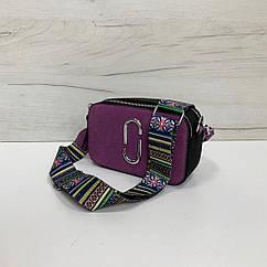 Сумка в стиле Якобс искусственная замша арт.0462 Фиолетовый