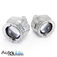 """Автомобильные линзы InfoLight G5 2.5"""" с LED ангельскими глазками, ближний + дальний свет"""