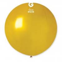 """27"""" (69 см) металлик золотистый G-39 Gemar Италия латексный шар"""