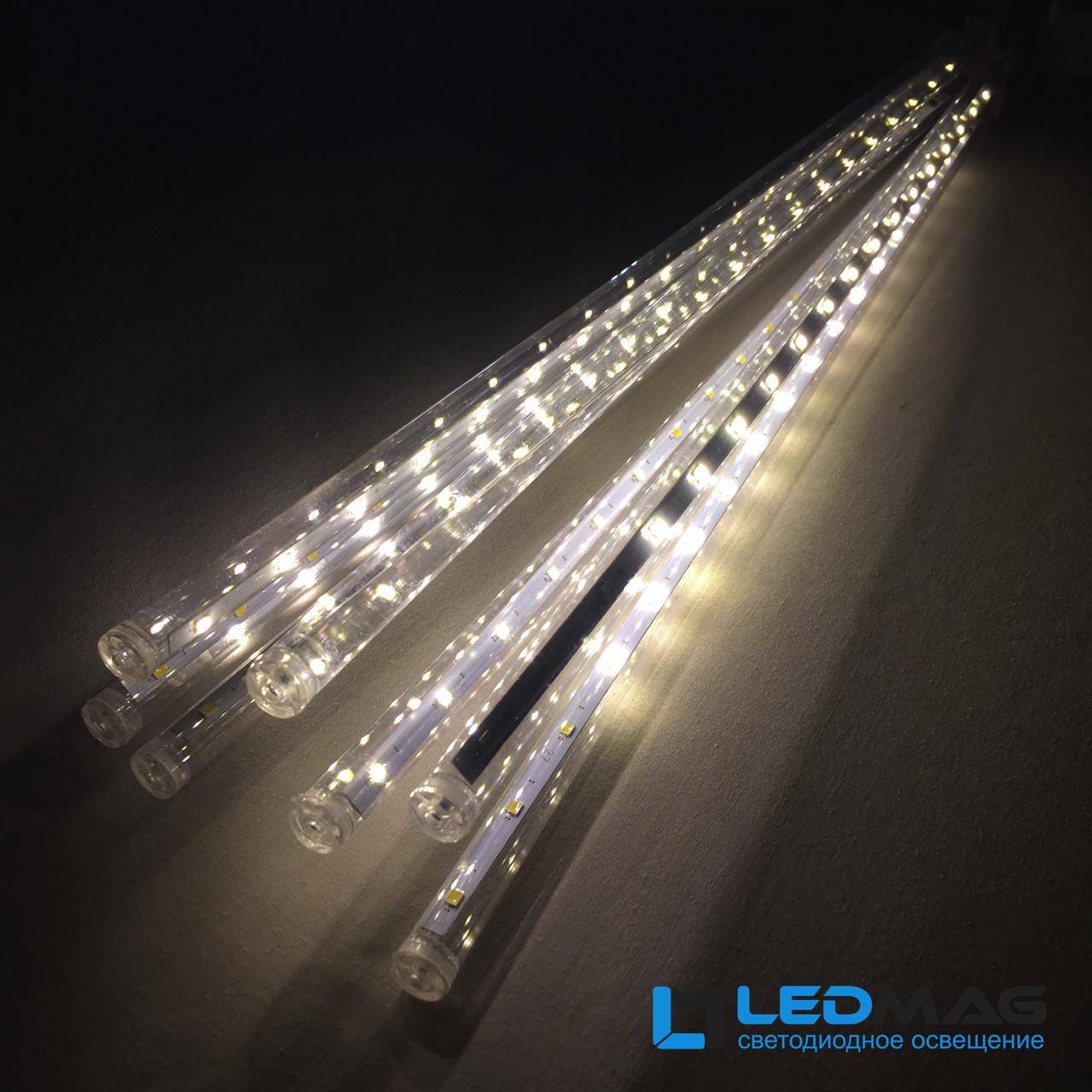 Светодиодная гирлянда Падающая капля (тающая сосулька), 8шт*50см, 3м 320 LED, ПВХ Теплый NEW 2019