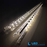 Светодиодная гирлянда Падающая капля (тающая сосулька), 8шт*50см, 3м 320 LED, ПВХ Теплый NEW 2019, фото 1