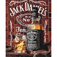 """Картина по номерам """"Jack Daniel's"""" ★★★★ КНО5555 scs"""