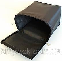 Термосумка для доставки пиццы двойная черная застёжка молния, фото 2