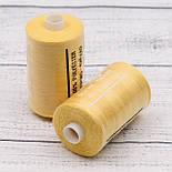 Нитки швейные 40/2, 1000 ярдов, цвет жёлтый (№ 119), фото 2