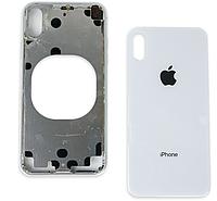 Крышка задняя iPhone X с рамкой Original 100% Silver (снятый с телефона)
