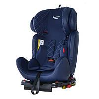 Детское автокресло синее CARRELLO Quantum CRL-11803/1 isofix Blue Shark детям от рождения до 12 лет