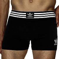 Мужские трусы боксеры транки шорты Adidas Адидас хлопок 5 цветов, фото 1
