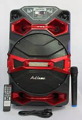 Аккумуляторная колонка с микрофоном AILIANG 1218AK-DT 150W (FM/USB/Bluetooth)