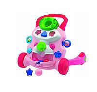 Детские ходунки каталка игровой центр развивающий розовый Chicco