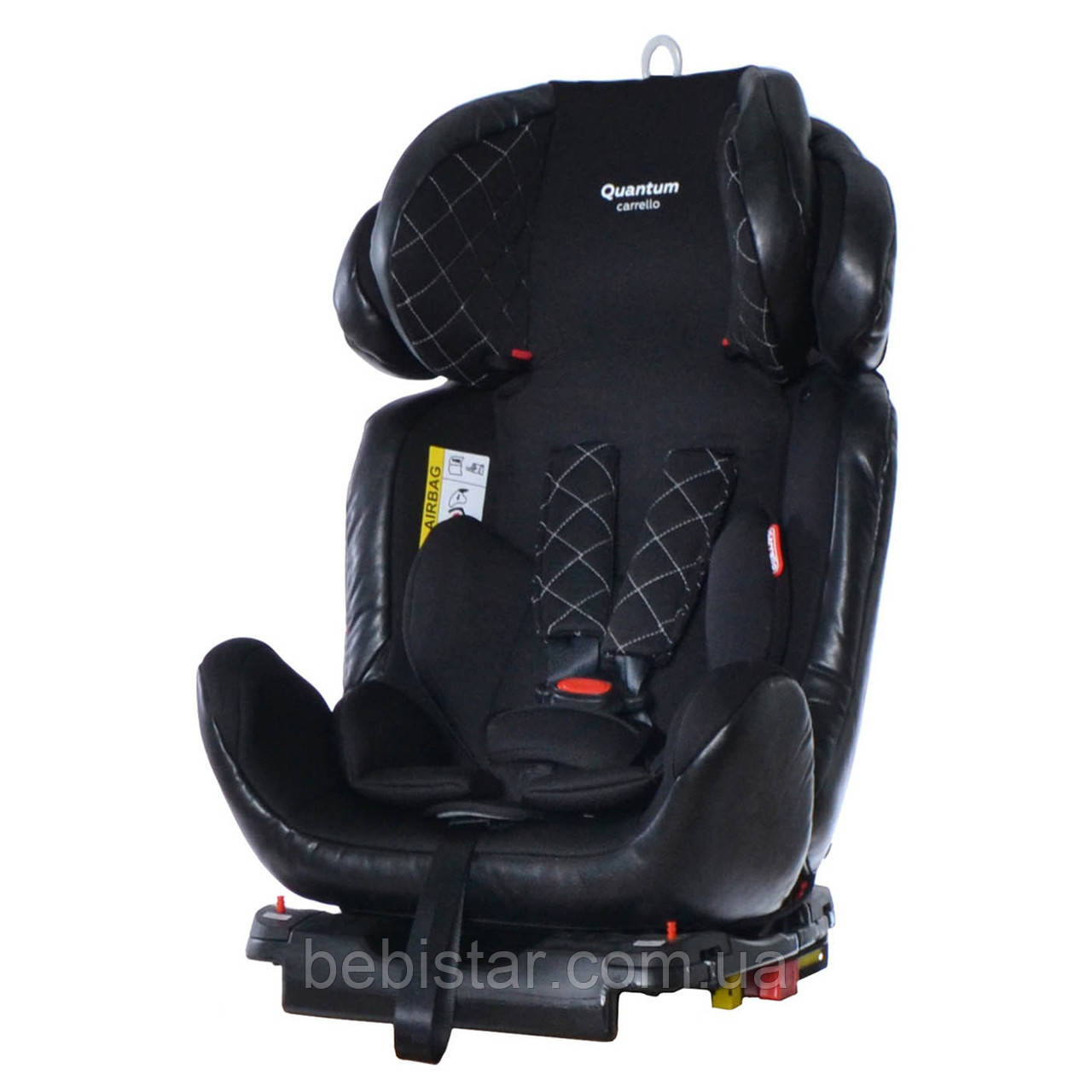 Детское автокресло черное CARRELLO Quantum CRL-11803/1 isofix Black Panter детям от рождения до 12 лет