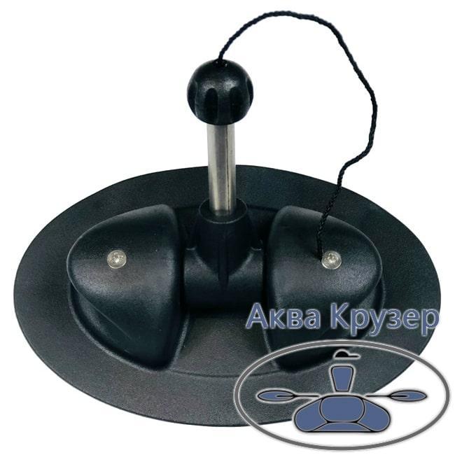 Уключина поворотна для надувних човнів ПВХ колір чорний - кочети овальні для весла