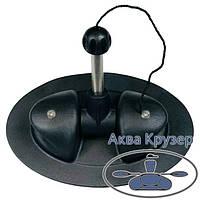 Уключина поворотная для надувных лодок ПВХ цвет черный - уключина овальная для весла, фото 1
