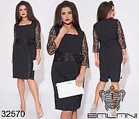 Красивое женское платье с гипюровыми вставками с 50 по 54 размер