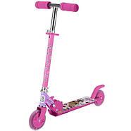 Детский оригинальный двухколесный самокат для девочки L.О.L. SURPRISE! Розовый (T14742-U), фото 2