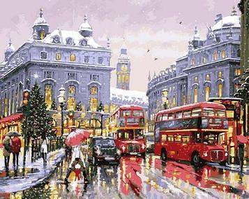 Картина по номерам 40×50 см. Babylon Зимний Лондон Художник Ричард Макнейл (VP 1000)