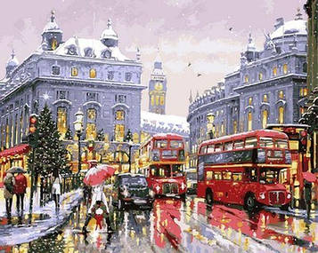 Картина за номерами 40×50 див. Babylon Зимовий Лондон Художник Річард Макнейл (VP 1000)