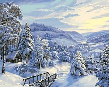 Картина за номерами 40×50 див. Babylon Снігова казка Художник Віктор Циганов (VP 817)