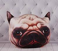 ЗД подушка собака, с изображением, с 3D принтом, в автомобиль, в машину, для путешествий, 60 см.