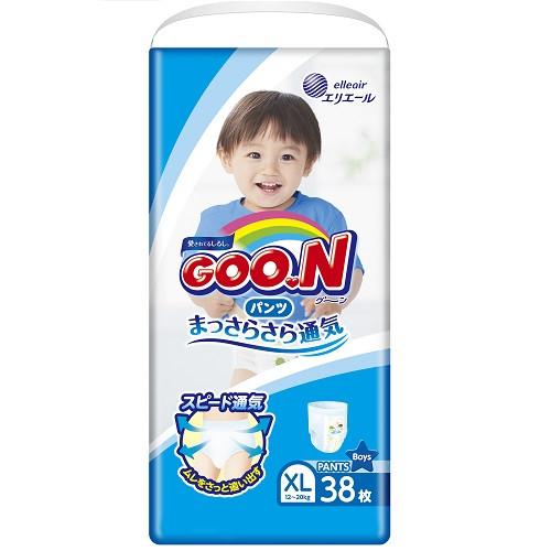 Трусики-подгузники GOO.N для мальчиков 12-20 кг (Гун, размер Big (XL), 38 шт)(853629)