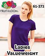Женские футболки Fruit of hte Loom Ladies Valueweight 61-372