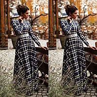 Теплое трикотажное платье макси