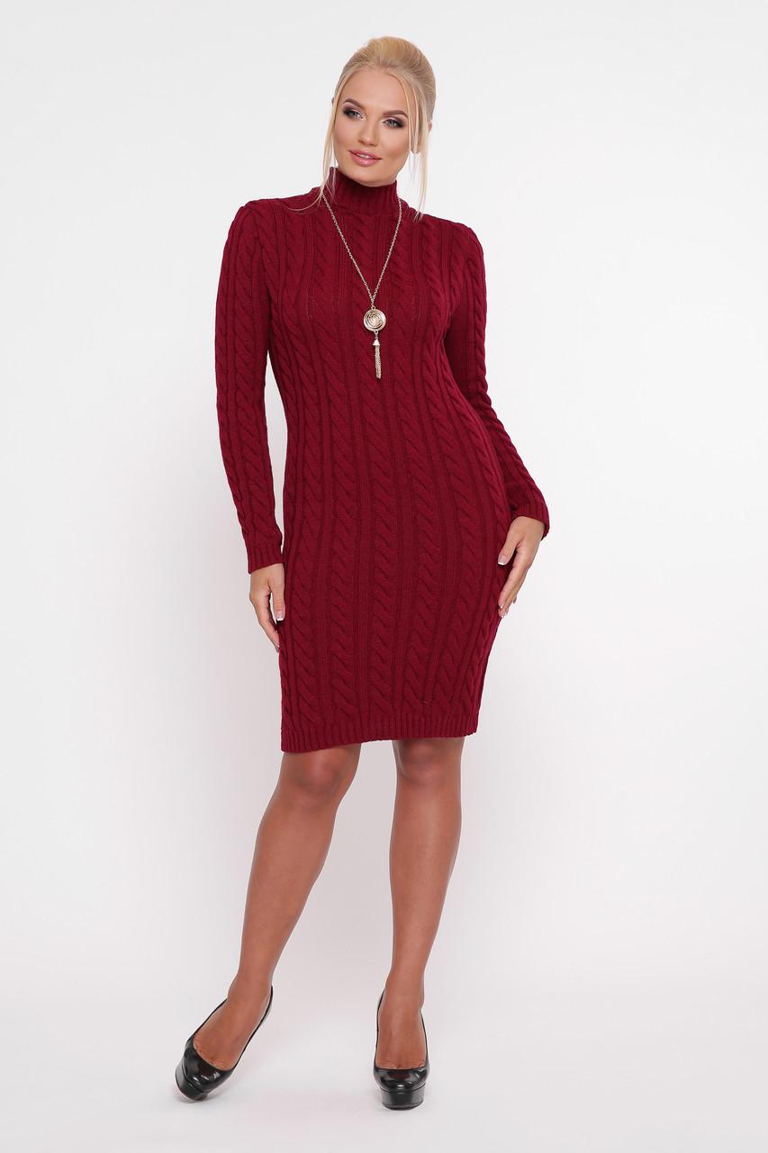 Платье Косы бордо