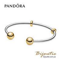 Pandora Shine ОТКРЫТЫЙ БРАСЛЕТ-БАНГЛ PANDORA MOMENTS #568291 серебро 925 Пандора оригинал