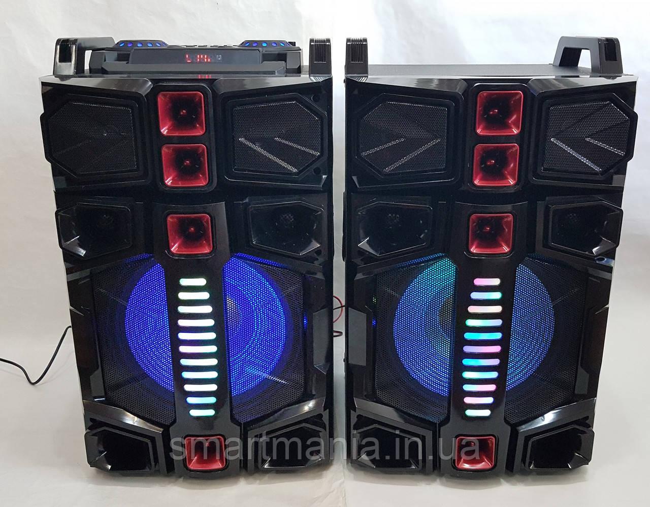 Активна стерео система колонки Wimpex WX-7314-12, 12 дюймів,350W (USB/Bluetooth/FM)