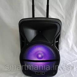 Колонка  аккомуляторная WIMPEX WX-3028-15 Bluetooth, SD+USB, пульт, гитарный вход