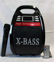 Бумбокс с радиомикрофоном Golon RX-810BT (USB/Bluetooth/FM/аккумулятор)