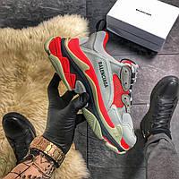 Женская обувь | Balenciaga Triple S Red Gray | Размер 36-40 | Весна/Летно/Осень | Производство: Италия.