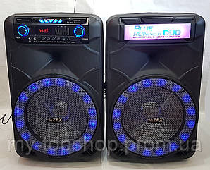 Активна акустика ZPX AUDIO 8888 X-BASS (2*150W/USB/BT/FM) комплект