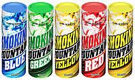 Цветной дым, набор из 5-ти шашек, 35 сек., зеленый, жёлтый, красный, оранжевый, синий