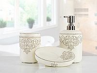 Комплект в ванную Irya - Julian молочный (3 предмета)