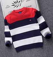 Дитячий светр осінь-зима / Полосатые хлопковые свитера для мальчиков, осенне-зимняя детская трикотажная одежда