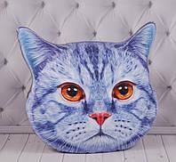 ЗД подушка Кот, с изображением, с 3D принтом, в автомобиль, в машину, для путешествий, 60 см., фото 1