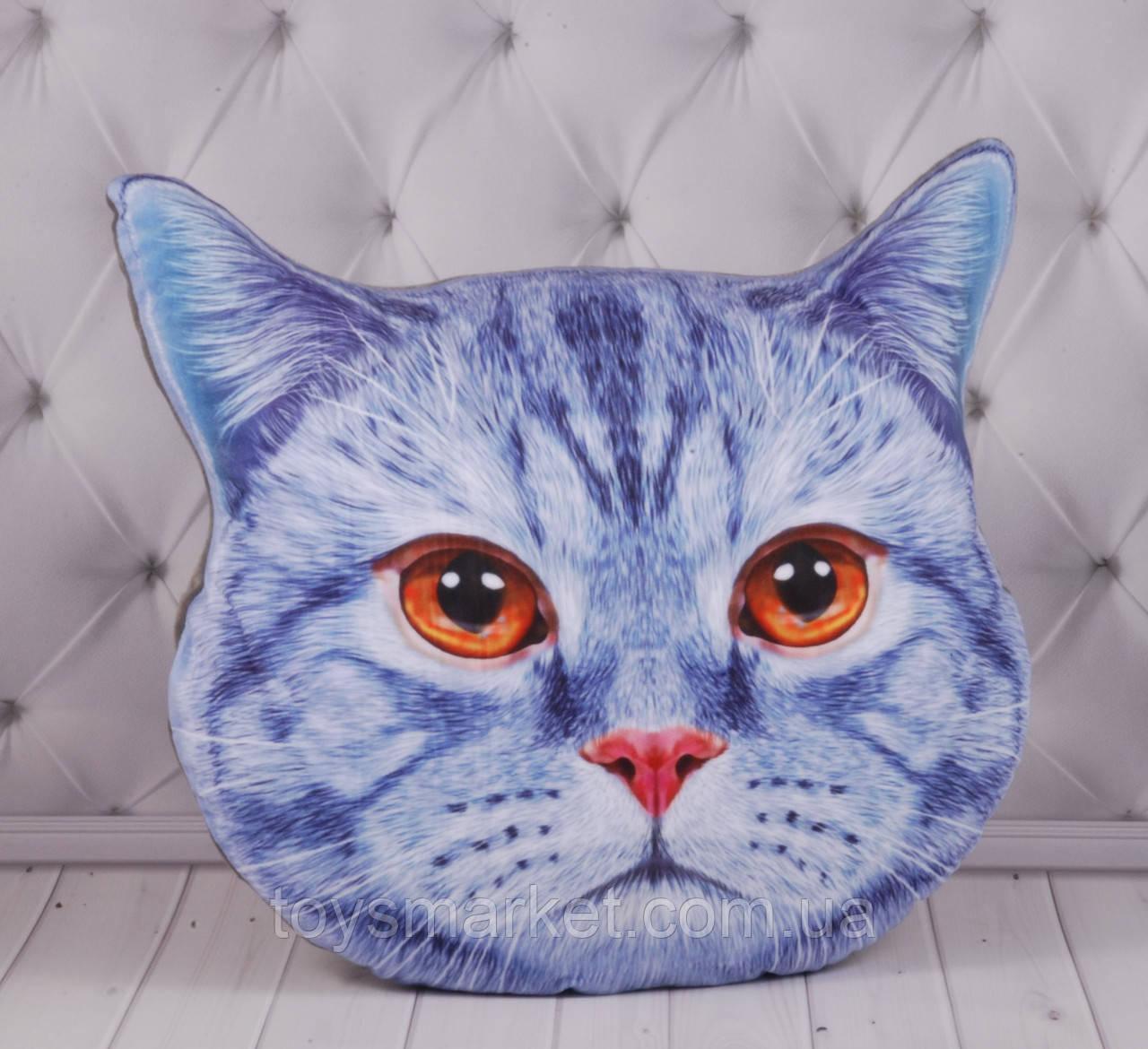 ЗД подушка Кот, с изображением, с 3D принтом, в автомобиль, в машину, для путешествий, 60 см.