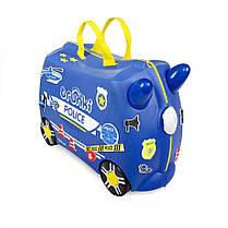 Детский чемодан на колесах trunki Percy Police Car, фото 3