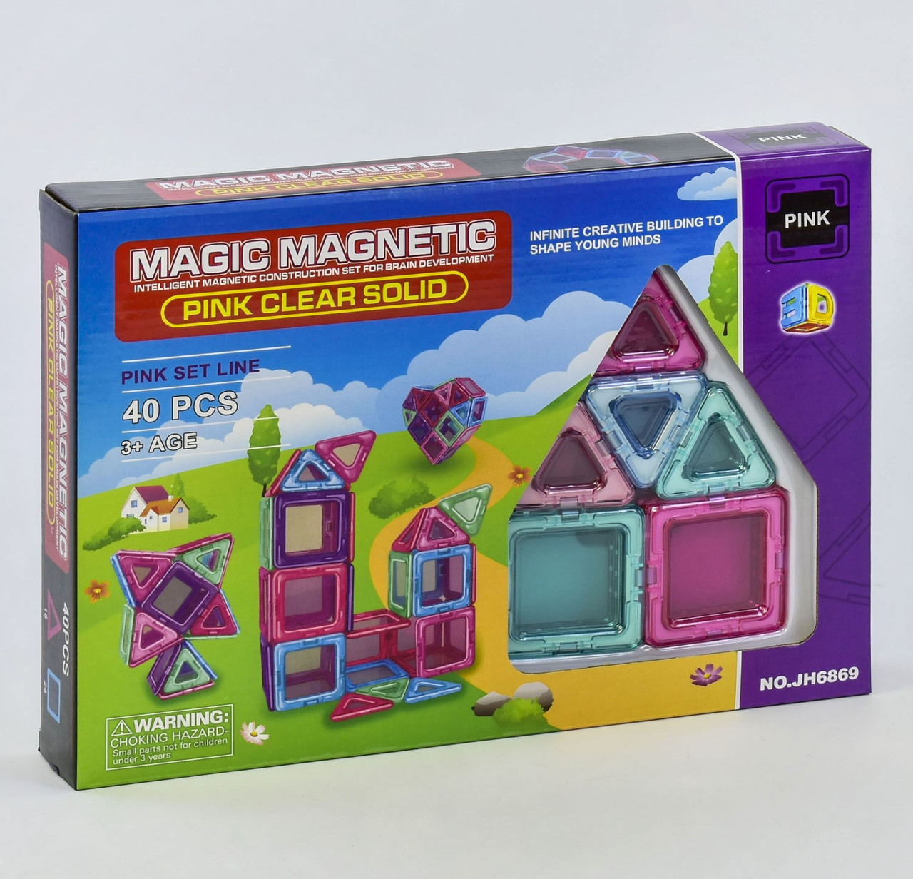 "Магнитный конструктор JH6869 ""Magic Magnetic"", 40  дет"