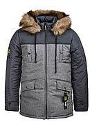 Зимняя куртка на мальчика на овчине курточка детская подростковая зима 10-14 лет