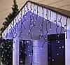 "Уличная LED гирлянда Бахрома ""Icicle"" 5 метров Синяя, 100 Ламп черный провод каучук пвх, 8 режимов, фото 3"